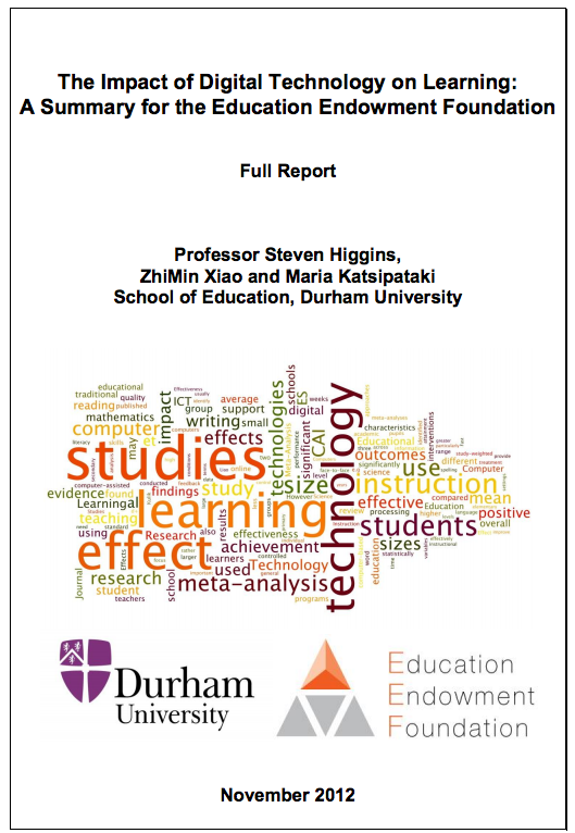 (PDF) Impact of Digital Technology on Education