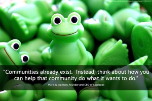 Communities already exist