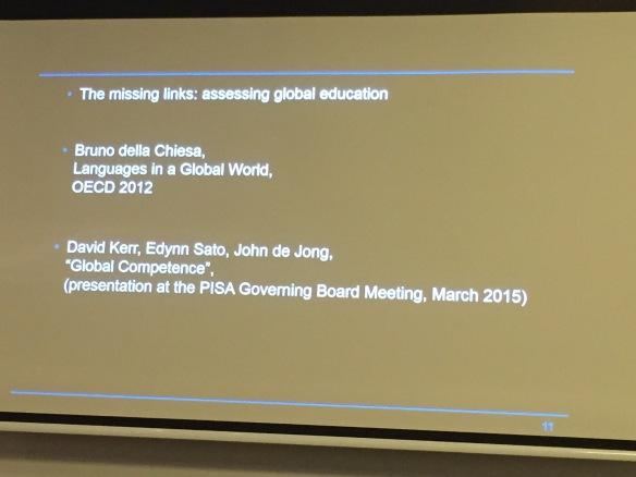 The missing links: Assessing global education