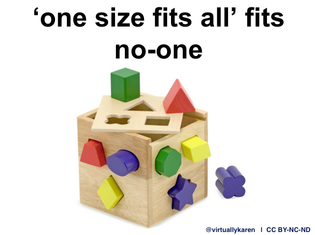 one size fits all fits noone